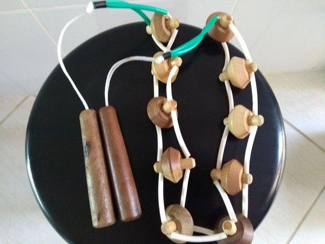 Kit 3 massageadores manuais madeira - Foto 3