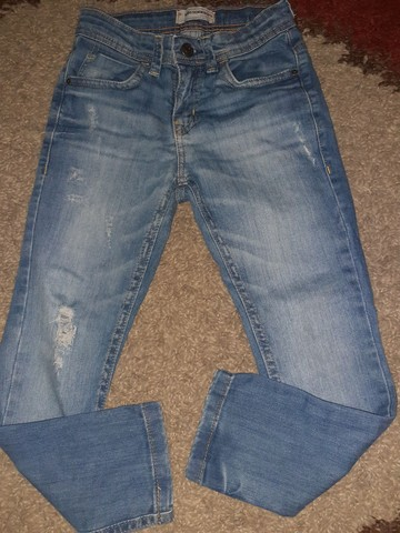 Calça jeans clara, Tam 6
