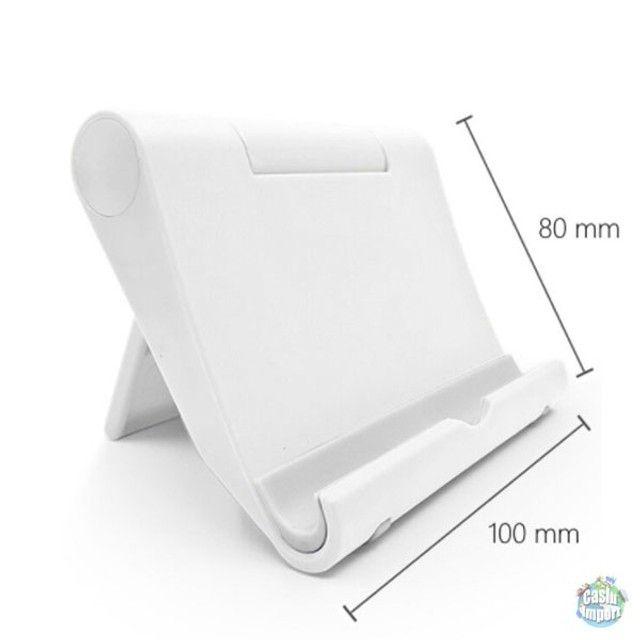 Suporte dobrável de plástico de mesa para celular e tablet - Foto 4