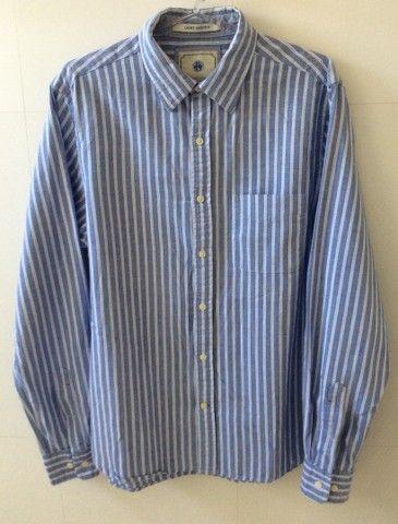 Camisa manga longa em algodão listrada Richards  - Foto 2