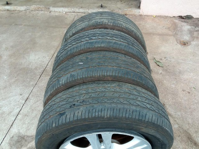 Jogo Pneus Sem Rodas Aro 17 Honda Crv 2011  - Foto 9