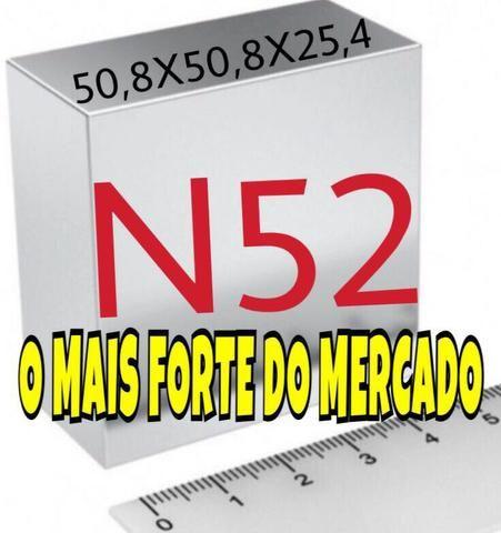 Poderoso imã Neodímio N52-50,8X50,8X25,4