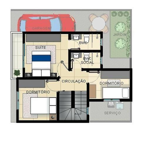 Excelentes Sobrados Tríplex em Condomínio - Pinheirinho - Apenas 4 unidades internas - Foto 5