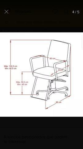Cadeira para salão de beleza - Ultima Peça- - Foto 5