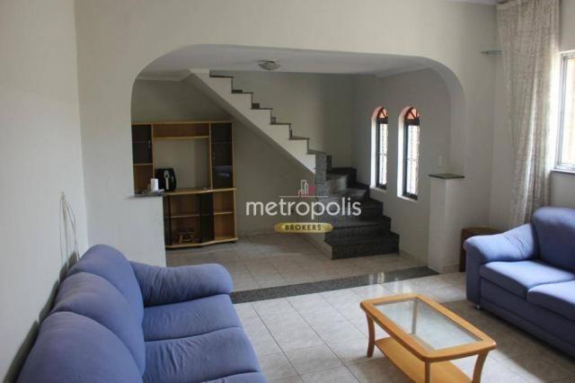 Sobrado com 4 dormitórios para alugar, 246 m² por R$ 4.000/mês - Cerâmica - São Caetano do
