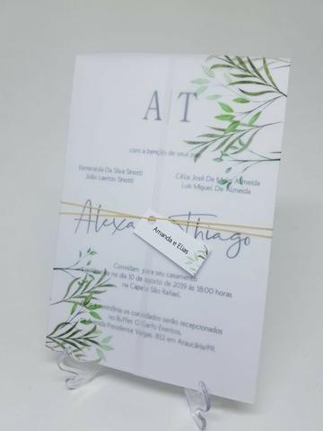Convite Folhas Papel Vegetal Objetos De Decoração Coração