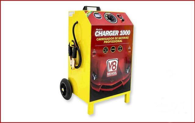 Carregador de Baterias 100A 12/24v Bivolt Charger 1000 V8 Brasil