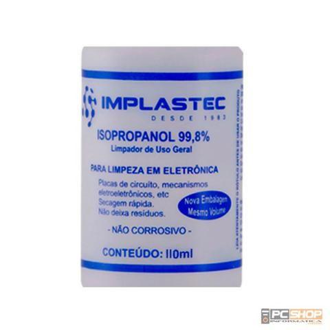 Álcool Isopropílico / Isopropanol 99,8% Implastec 110ml com Bico - Foto 3