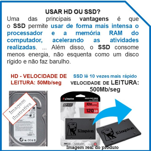 SSD Kingston A400 120giga SATA - NOVO - Original - Foto 2