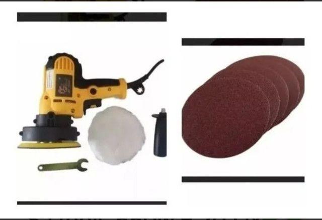 Lixadeira E Poolitriz Sa.tools 550w + 20 Lixas + Boina<br><br>