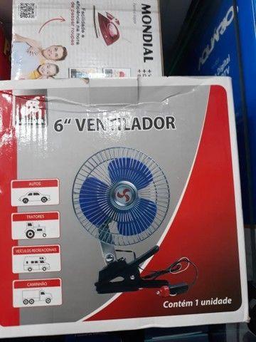 Ventilador Duplo Carro Caminhao Onibus 12/24v Portatil    - Foto 2