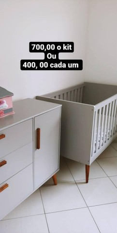 Berço e cômoda retro - Foto 3