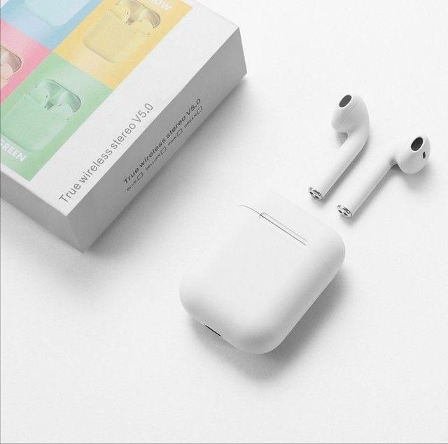 Fone de ouvido I12 para iPhone e Android  Bluetooth