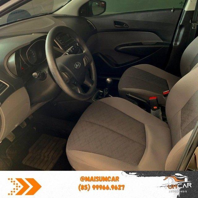 Hyundai HB20S - Unique - 1.0 -  2019 - 20.000Km - Preto - Foto 6