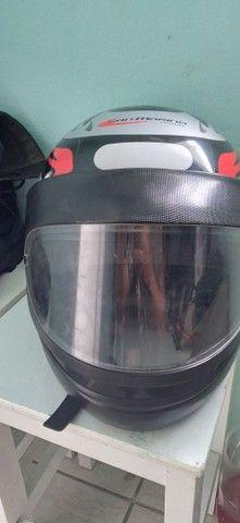 Capa de chuva nova E capacete - Foto 5