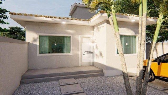 Excelente casa linear com 3 dormitórios à venda, 70 m² por R$ 310.000 - Enseada das Gaivot