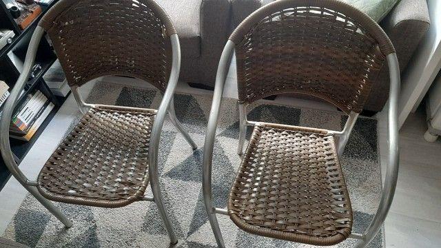 Cadeiras de aluminio