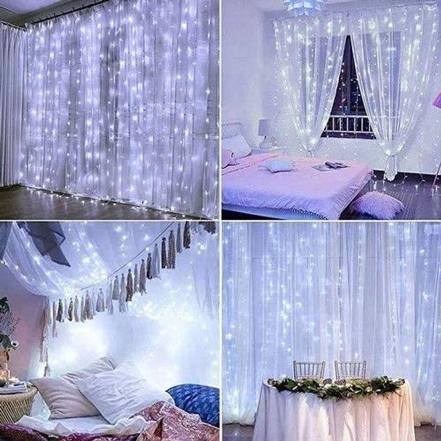 Cortina de led decorativa 127v 3x2 10w - Foto 3