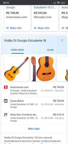 """Violão """"Di Giorgio"""" estudante n° 18 1995 - Foto 6"""
