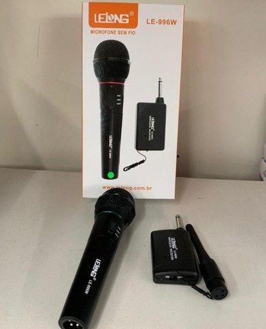 Microfone sem fio Lelong 30mt - Foto 2