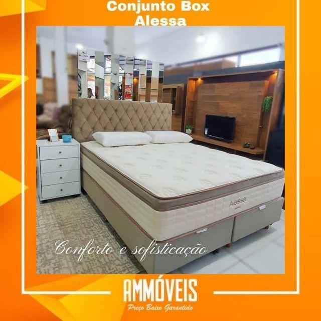 Conj Box Alessa Kappesberg 1,58x1,98 Entrega Grátis em Belém, Ananindeua e Marituba