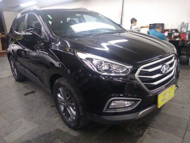 Hyundai IX35 GLS 2.0 16v Flex Autom Completo Couro DVD 2019 Preto - Foto 3