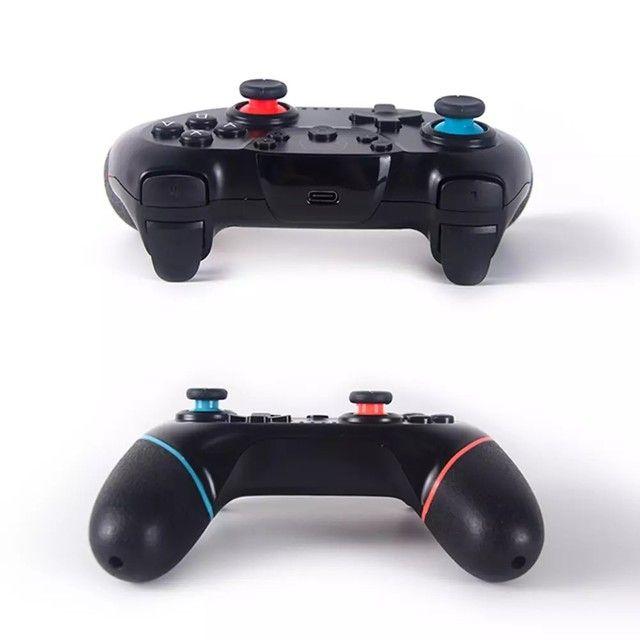 Controle Nintendo Switch Sem Fio Bluetooth Pro Controller Joystick - Foto 3