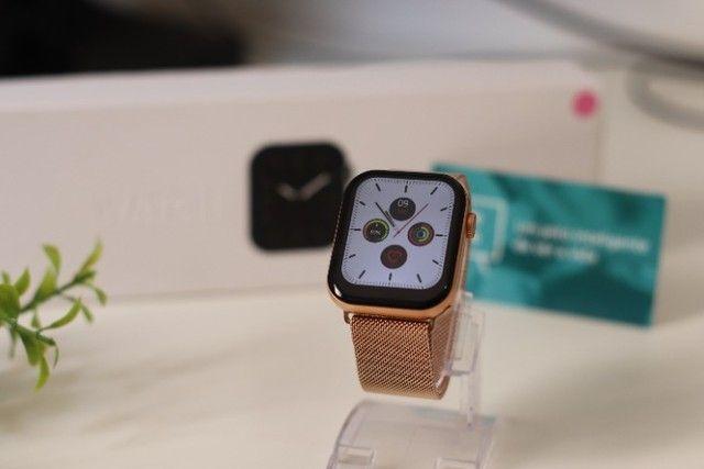 Relógio Inteligente Iwo FK78 Original Compatível com Android e iOS Rosê - Foto 2