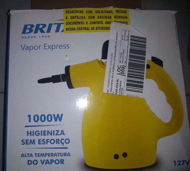 Higienizador a vapor Britânia sem uso, com nota. - Foto 2
