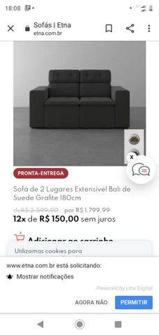 Sofa 2 lugares e cama de casal Etna - Foto 6