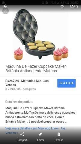 Máquina cupcake usada 1x
