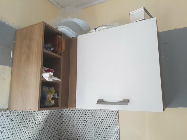 Armário de cozinha com nichos