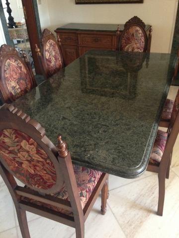 Conjunto Sala Jantar Com Mesa 6 Cadeiras E Buffetoratorio Em