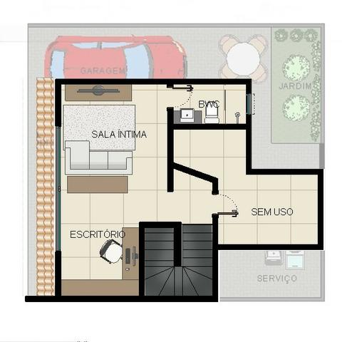 Excelentes Sobrados Tríplex em Condomínio - Pinheirinho - Apenas 4 unidades internas - Foto 6