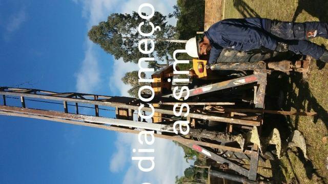 Trator perfuração estaca escavada
