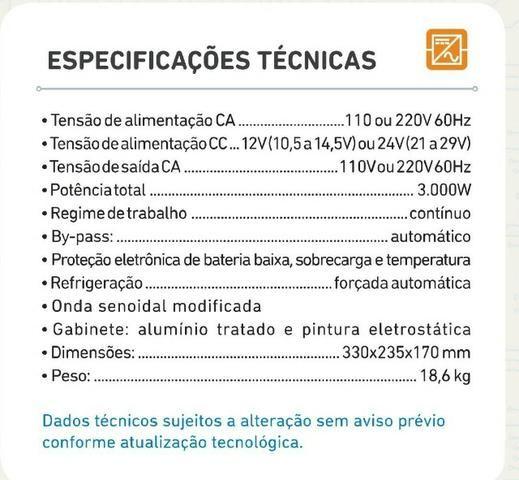 Inversor Conversor de Tensão 3000w 12v p/ 110v (Novo) - Foto 6