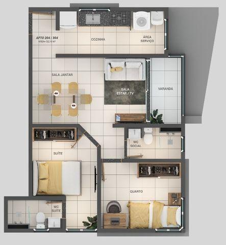 Apartamento á Venda 1 ou 2 quartos nos Bancários - Foto 7