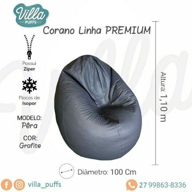 Pufe, pufi, puff - Modelo Pera - Linha Premium - Conforto garantido - Foto 2
