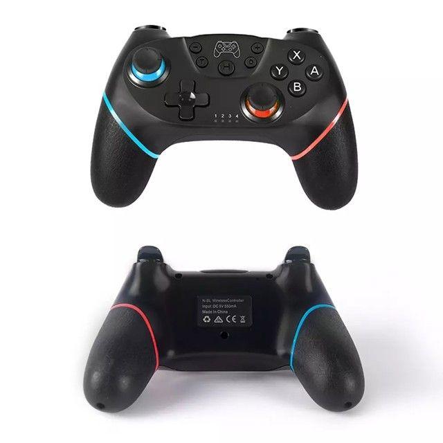 Controle Nintendo Switch Sem Fio Bluetooth Pro Controller Joystick - Foto 2