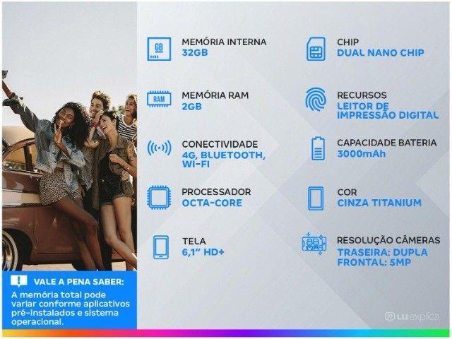 Smartphone Motorola Moto E6i 32GB Cinza Titanium - 4g 2gb ram - Na Caixa - Foto 3