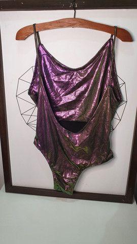 Body com tecido holográfico  - Foto 2