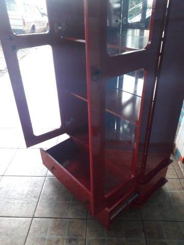 Cristaleira vermelha laca em mdf - Foto 6