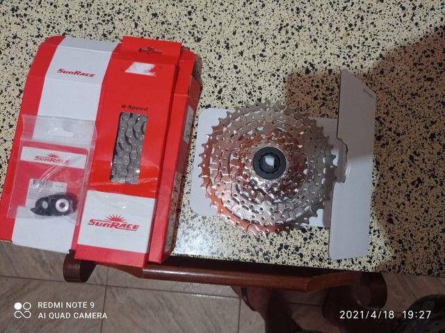 Cassete ,k7 Sunrace 8v 11X40 mais corrente Sunrece e prolongado  - Foto 2