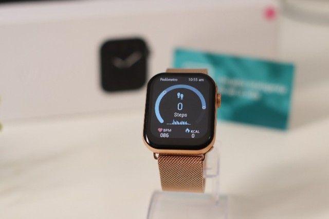 Relógio Inteligente Iwo FK78 Original Compatível com Android e iOS Rosê - Foto 4
