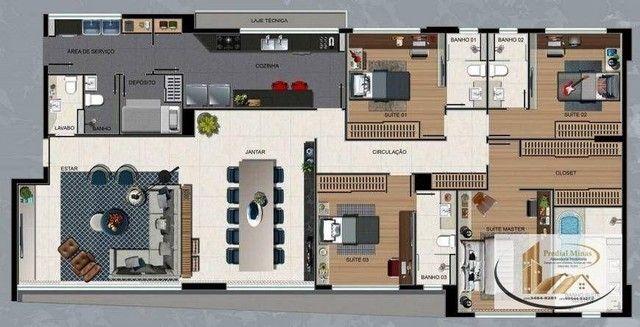 Apartamento com 4 dormitórios à venda, 175 m² por R$ 2.995.000,00 - Santo Agostinho - Belo - Foto 14