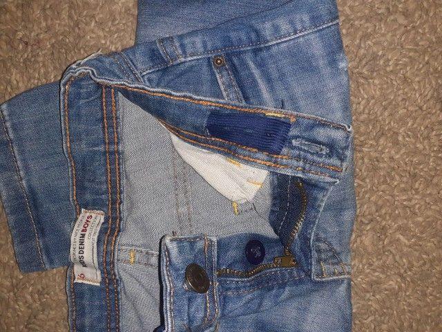Calça jeans clara, Tam 6 - Foto 3
