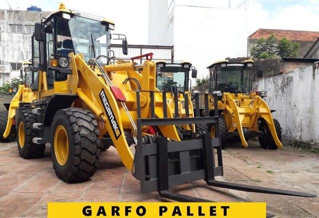 Pá Carregadeira C/Engate Rápido + Garfo Pallet 2200kg, 0km - Pronta Entrega - Foto 4