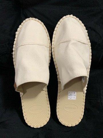 sandália / chinelo / spadrille / alpagata tipo mule das havaianas (original)
