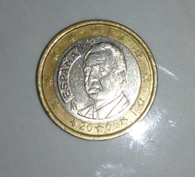 Moeda de 1 euro, com mapa velho - Foto 3