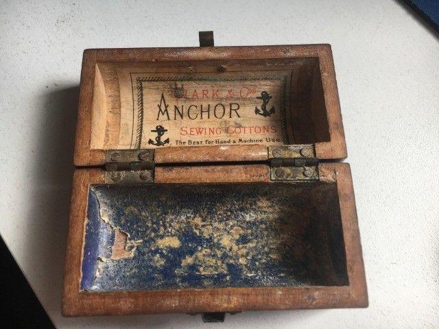 Caixinha antiga da Clark & COs Anchor - Foto 3